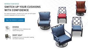 Cushion For Patio Furniture by Shop The Glenlee Patio Collection On Lowes Com