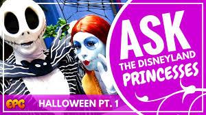 spirit halloween sherman jack and sally give halloween tips at disneyland halloween time