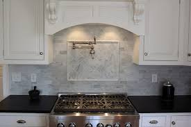 Carrara Honed X  X Backsplash Portland Direct Tile  Marble - Carrara backsplash