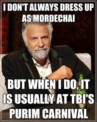 Purim Meme - i don t always dress up as mordechai but when i do it is usually