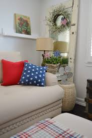 blue livingroom patriotic summer cottage living room