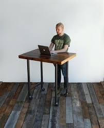Stand Up Desk Kickstarter The Uplift Standing Desk With Solid Wood Top Is A Rustic Way To