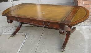 leather top coffee table rascalartsnyc