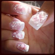 pink u0026 white glitter gel w 3d rose petals u0026 bling yelp
