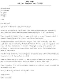 Cover Letter For Supply Chain supply chain manager cover letter exle icover org uk