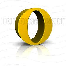 lettersmarket 3d gold letter o isolated on a white background