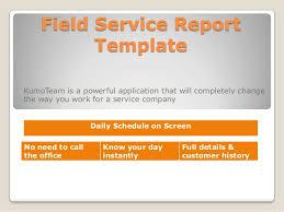 field report template field service report template