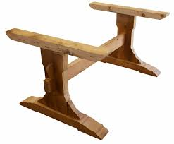 image of reclaimed wood trestle table woodworking pinterest
