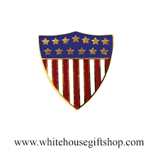 house gift presidential flag pins union crest american flag lapel pin usa