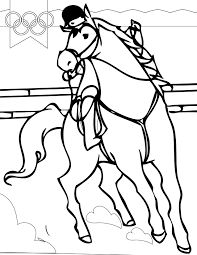 equestrian coloring page handipoints