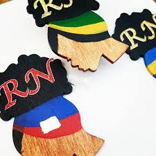 Customize Your Own Flag Design Your Own Custom Country Flag Feature Wooden Afro Badge Reel