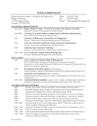 Adjunct Instructor Resume Sample by Sample Curriculum Vitae University Professor
