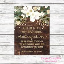 rustic bridal shower invitations christmas bridal shower invitation rustic bridal shower