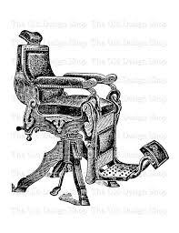 Old Barber Chair Antique Barber Chair Vintage Printable Clip Art Digital