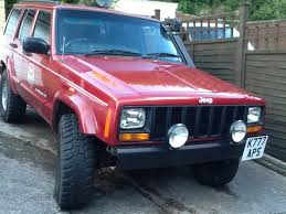 jeep lifted pink jeep cherokee xj 1998 lifted big tyres snorkel different in