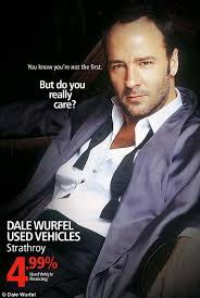 second hand car ad pulled after using tom ford u0027s image with