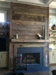 Fireplace Cover Up Reclaimed Wood Fireplace It Would Be Easy To Cover The Ugly