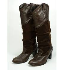 womens boots marks and spencer jigsaw suede and leather brown jockey boots size 40 12 oxfam