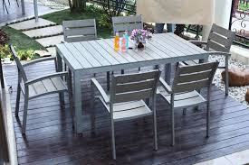 Outdoor Patio Furniture Reviews Dining Tables Polywood Garden Classic Dining Table And Chair Set