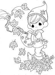 fairy boy in in autumn season coloring page color luna