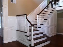 Wainscoting On Stairs Ideas Raised Panel Wainscoting With Brown Walls Kids Prodjects