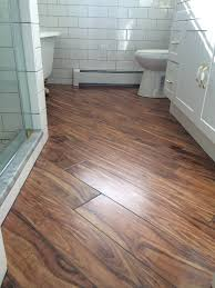 farmhouse bathroom porcelain wood tile on a diagonal tiles