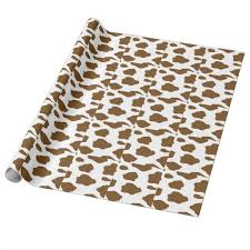 cow print wrapping paper brown cow print wrapping paper zazzle