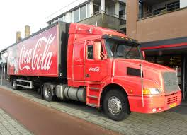red volvo truck file volvo coca cola christmas truck flickr joost j bakker