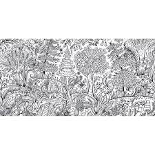 bright u0026 bold giant coloring wall murals forest print