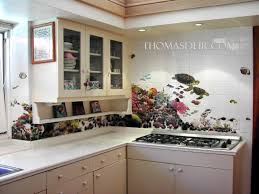 Kitchen Mural Backsplash Tropical Fish Kitchen Tile Murals U2013 Thomas Deir Honolulu Hi Artist