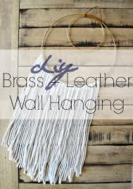 Home Decor Auction Diy Brass Leather Wall Hanging U2014 Stylemutt Home Your Home