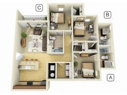 Spacious 3 Bedroom House Plans Campus Quarters Luxury Student Apartment Floor Plans Campus