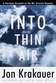 into thin air a personal account of the mount everest disaster by