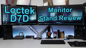 loctek ergonomic d7d dual monitor mount setup u0026 review youtube