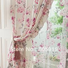 aliexpress com buy free shipping floral pink curtains for living