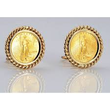 14kt gold earrings 14kt gold earrings with u s 1 10 oz eagle gold coin coin included
