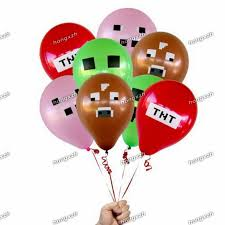 minecraft balloons minecraft balloons tnt balloons minecraft party decorations