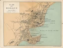 Monte Carlo Map 1927 Monaco U0026 Monte Carlo Antique Map
