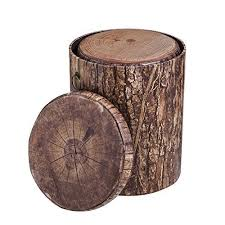 tree trunk end table tree stump end table amazon com