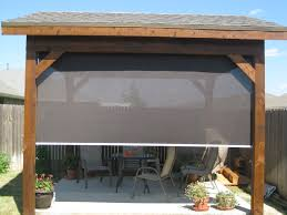 Bamboo Patio Cover Tucson Patio Roller Shades Keep Cool Without Blocking The Sun