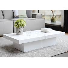 white rectangle coffee table two block storage coffee table white dwell