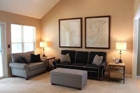 wall paint color that goes with brown furniture living room also