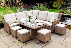modular dining table leisuregrow saigon modular dining set in natural woven garden