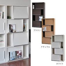 Bookcase With Doors Atom Style Rakuten Global Market Display Rack Flap Door