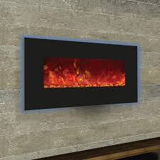 electric fireplace with glass rocks home decoration ideas