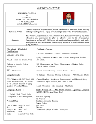 Sample Resume Nursing Student by Safety Officer Resume India Corpedo Com