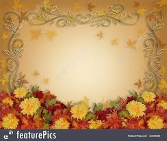 templates fall leaves flowers thanksgiving border stock