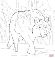 crouching gray wolf coloring page free printable coloring pages