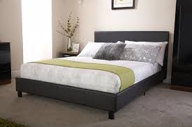 Double Faux Leather Bed Frame by Faux Leather Bed In A Box Black From The Original Factory Shop