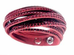 red crystal bracelet images Swarovski slake bracelet burgundy red 5297365 authentic ebay jpg